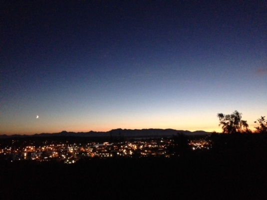Moon-set at Fremont Peak Park